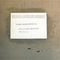 Utsnitt av protokollens forside. Foto: Ingelinn Kårvand / Norsk industriarbeidermusem