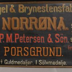 Reklameskilt for Norrøna fabrikker