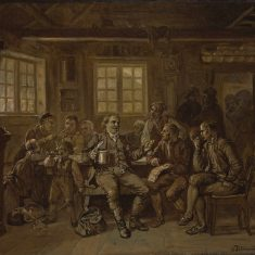 Bilde til utstillingsåpning ved Vest-Telemark museum.